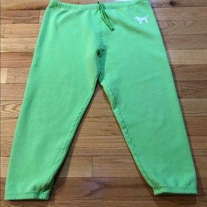 VS PINK Green sweat pants